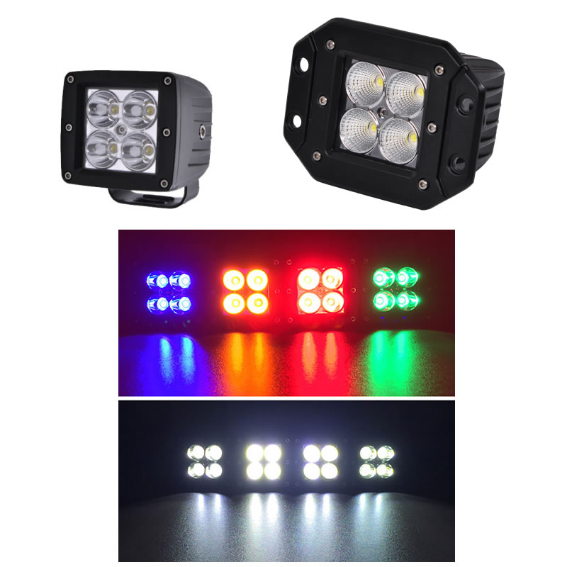 Dual color led work light