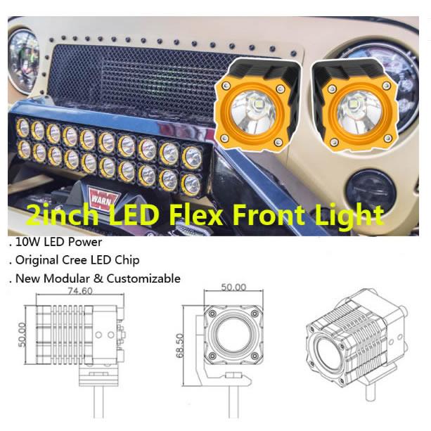 2inch led flex front light